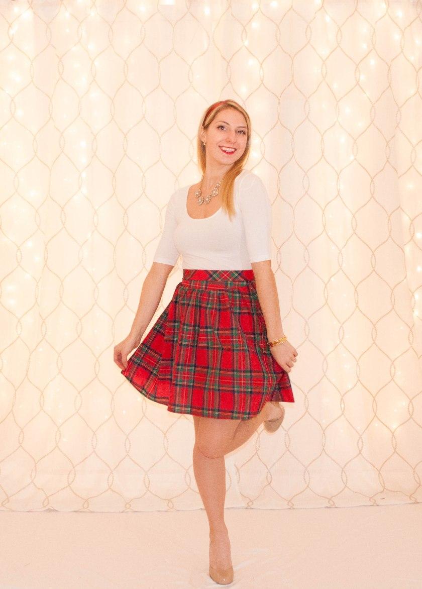 Tartan Skirt-5