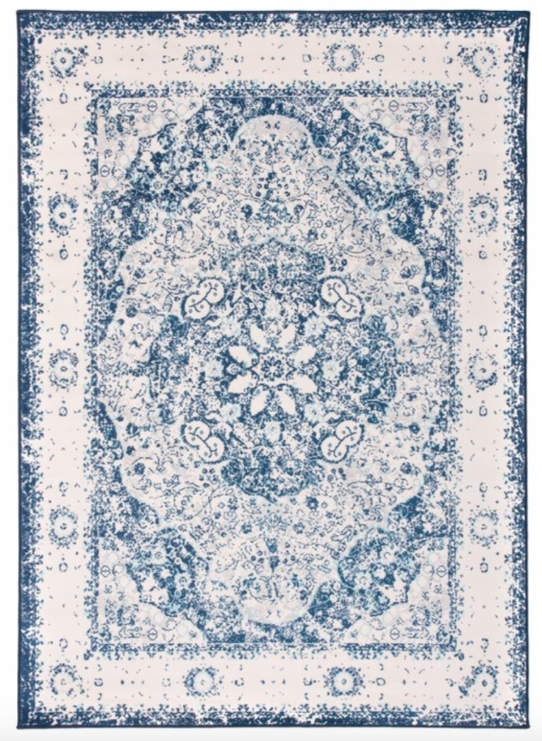 Blue Beige Area Rug
