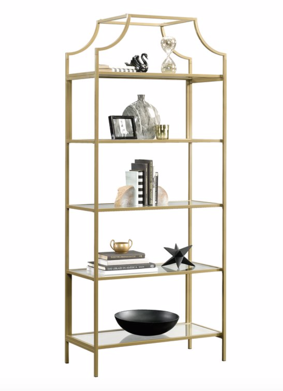 Gold Etagere Bookshelf