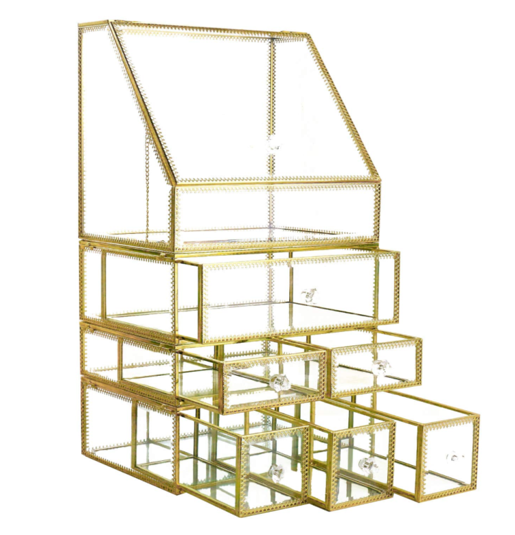 Gold Makeup Organizer